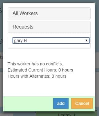Shift Requests - Event Staff Scheduling App