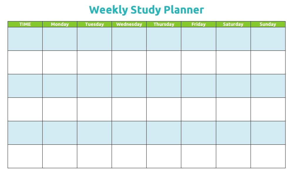 Study Schedule Template - 5 Free Templates - Schedule Templates - weekly study schedule