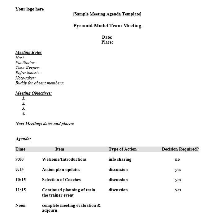 Meeting Schedule Template - 10 Free Templates - Schedule Templates - meeting schedule template
