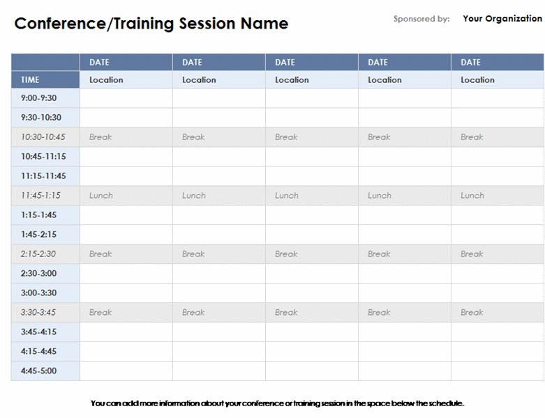 workback schedule template