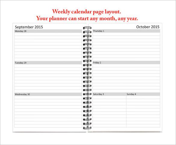 Teacher Schedule Template - 5 Free Templates (MS Word  PDF