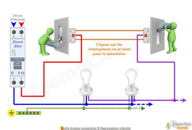 schema-electrique-va-et-vientjpg (666×453) electrice Pinterest - Plan Electrique Salle De Bain