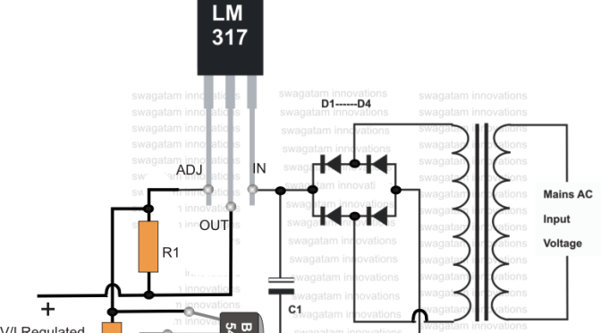 current controlled 12 volt battery charger circuit using ic 317  en