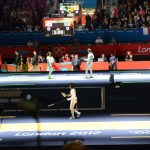 OS 2012: At the beginning of the top 8 bouts (Women Foil Individual)