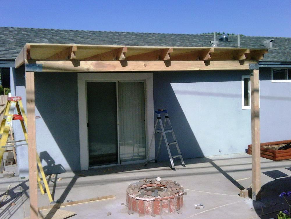How To Build A Patio Cover Attached To House Schmidt