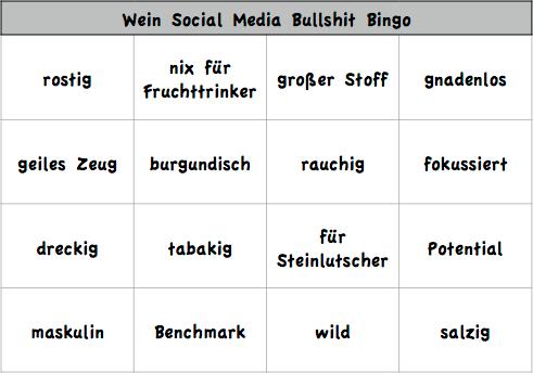 Wein Bingo
