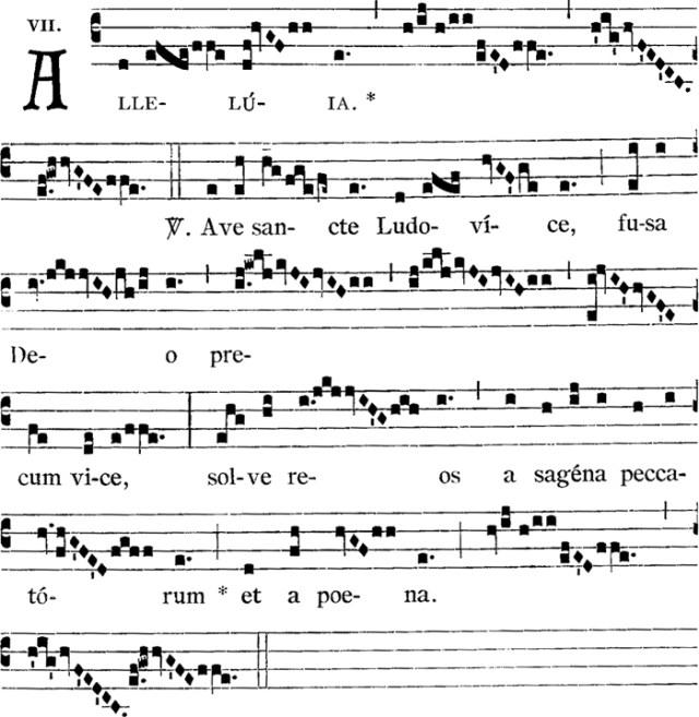 2nd alleluia, au Temps Pascal, de saint Louis