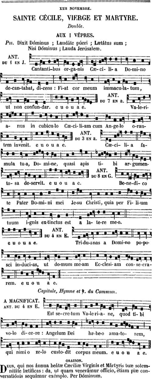 Premières vêpres de sainte Cécile