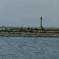Croix celtique sur l'une des pointes de Papa Stronsay