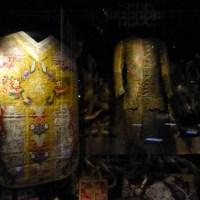 Lampas fond damassé et broché, Lyon 1720