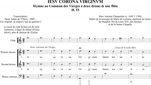 Marc-Antoine Charpentier - Iesu corona virginum (H. 53)