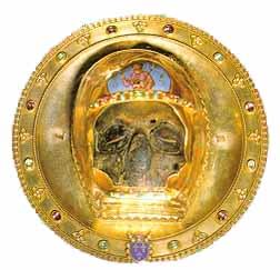Chef de saint Jean Baptiste, conservé à la cathédrale d'Amiens