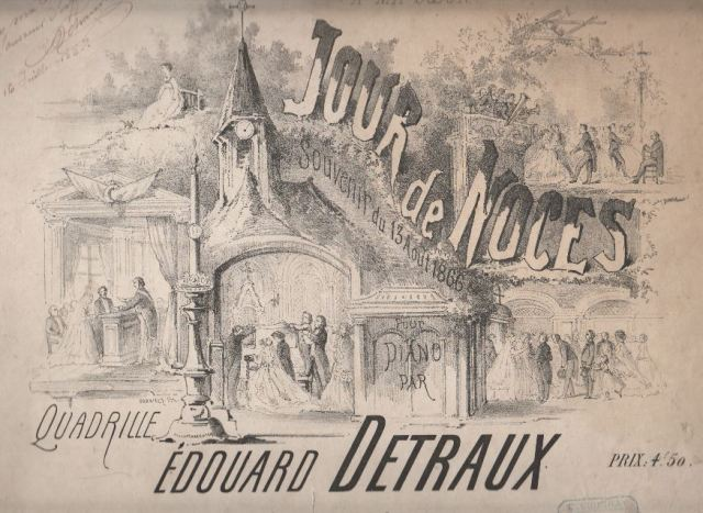 Jour de Noce - Quadrille d'Edouard Detraux - 13 août 1866