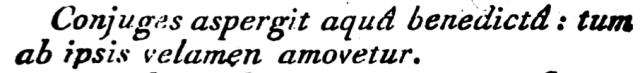 Rituale Parisiense de 1791 - rubrique marquant la fin de la vélation