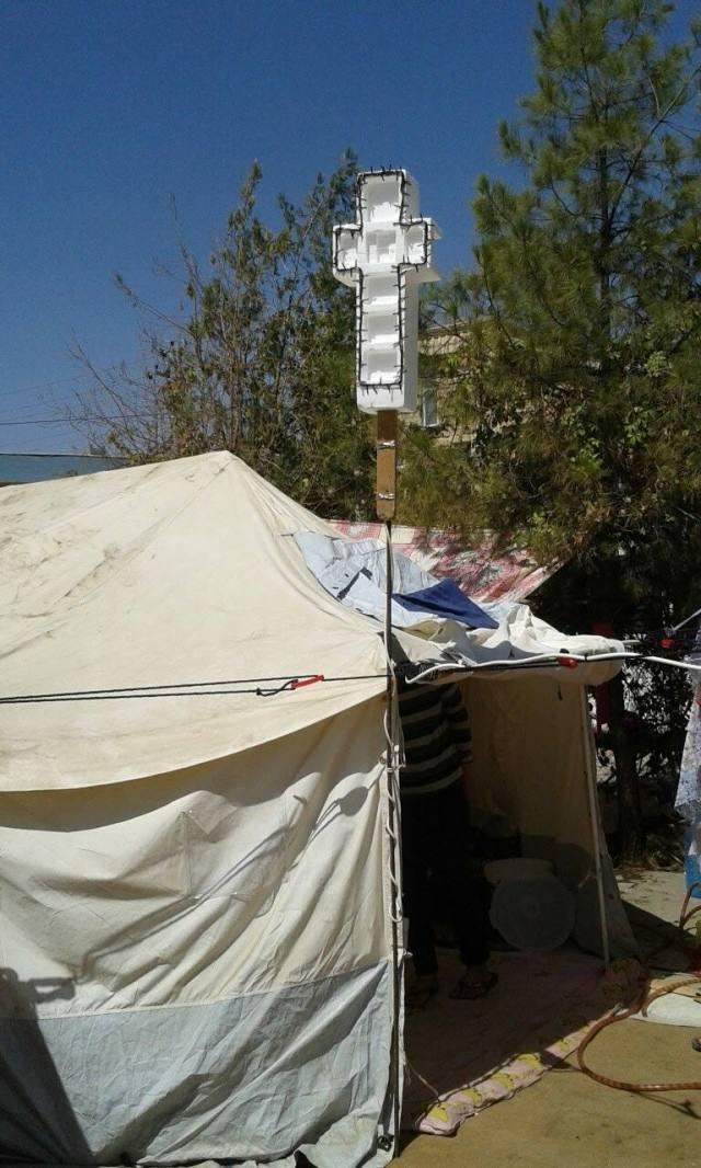 Exaltation de la sainte Croix dans les camps de réfugiés chrétiens en Irak
