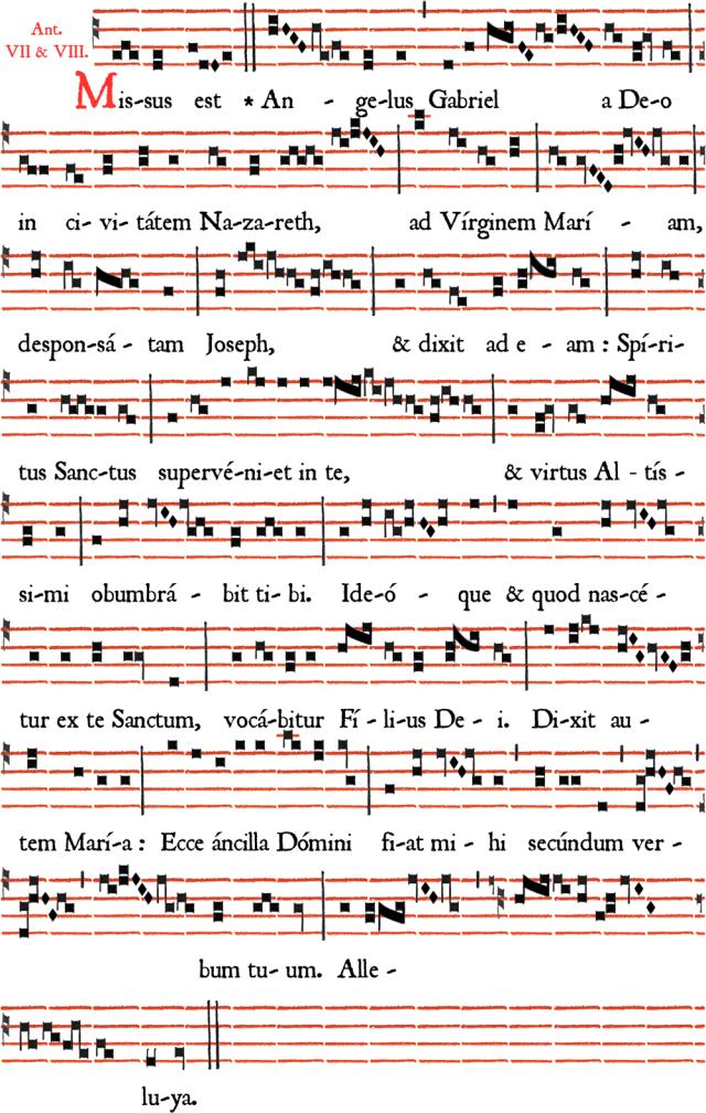Antienne processionnelle de l'Avent - Missus est Angelus