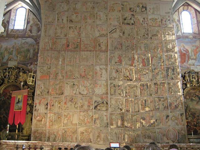 Voile de Carême de la cathédrale de Gurk en Autriche composé de 99 tableaux de l'Ecriture - 1458