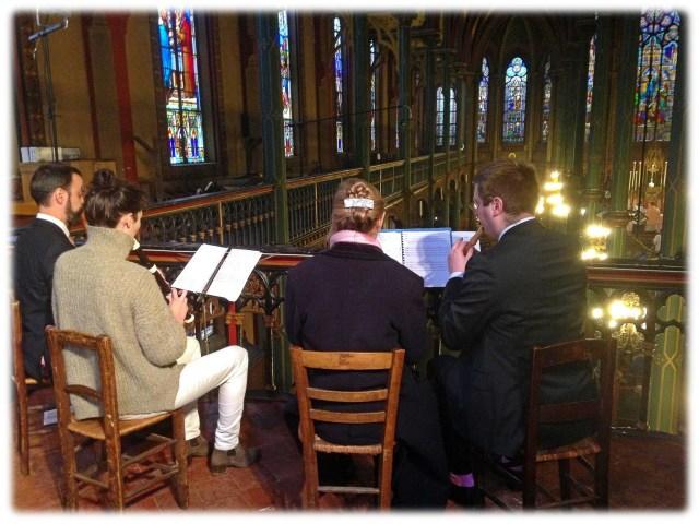Le quatuor de flûtes à bec baroque de la Schola Sainte Cécile