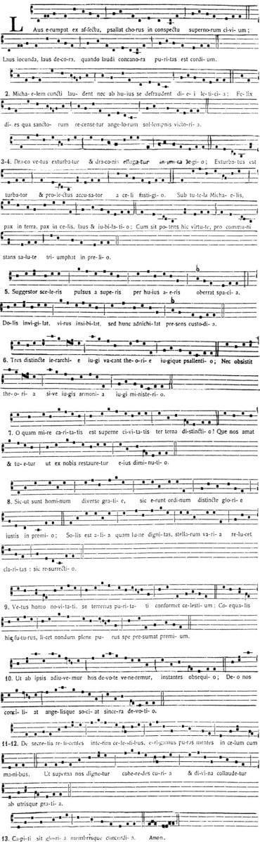 Une prose à saint Michel par Adam de Saint-Victor - Laus erumpat ex affectu