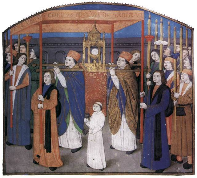 La Fête-Dieu - Bréviaire de Besançon circa 1481