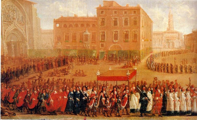 Fête-Dieu à Toulouse en 1700