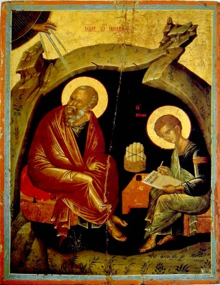 Saint Jean l'Evangéliste et un disciple