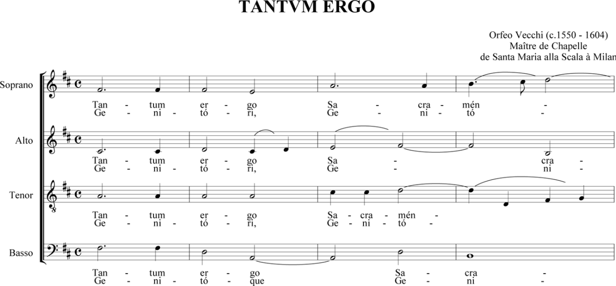 Orfeo Vecchi - Tantum ergo / Pange lingua
