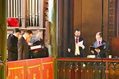 20 - La Schola Sainte Cécile répartie dans 4 tribunes pour la Messe à 4 choeurs de Marc-Antoine Charpentier - Sainte Cécile 2015