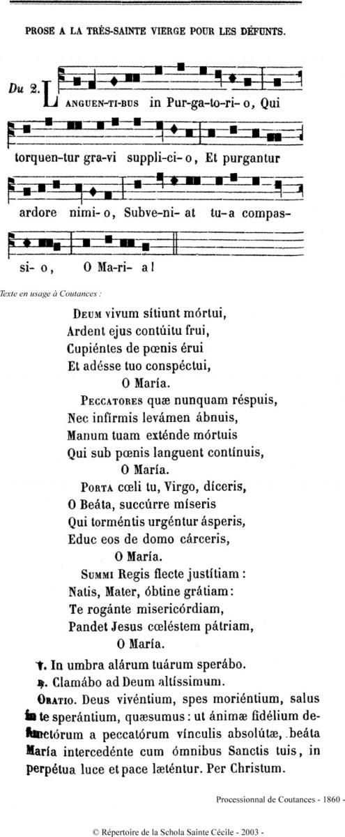 Languentibus en plain-chant de Coutances