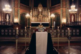 16-Requiem pour Louis XVI - le catafalque après l'absoute