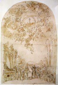 Projet de décor des Quarante-Heures - Rome - fin du XVII