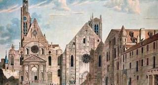 Saint-Etienne-du-Mont à gauche et l'ancienne Abbatiale Sainte-Geneviève à droite.