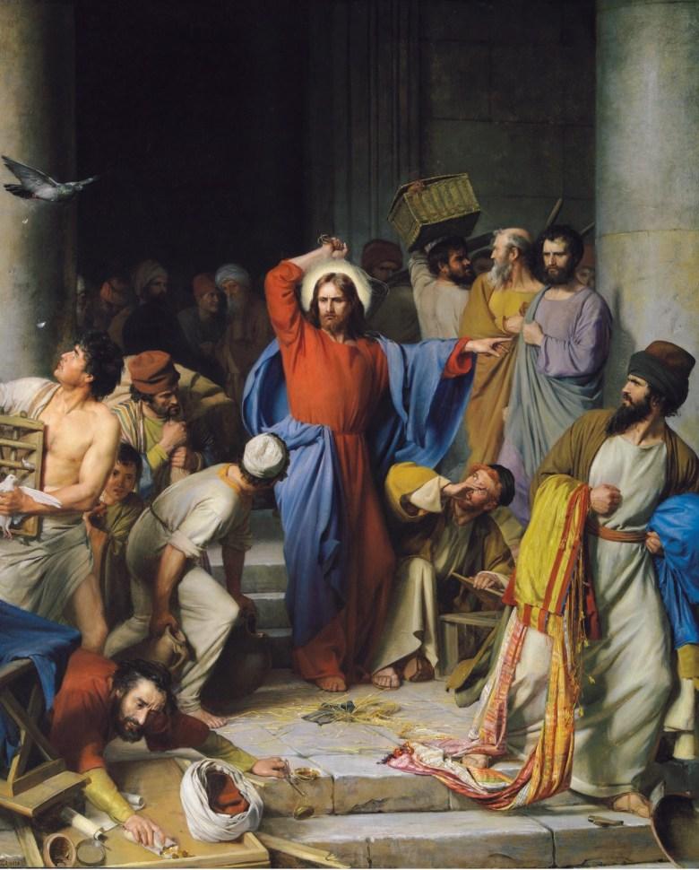 Carl Heinrich Bloch : Jésus chasse les marchands du Temple