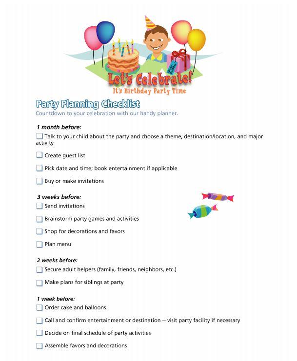 Party Planning ChecklistWorksheets  Printables Scholastic Parents
