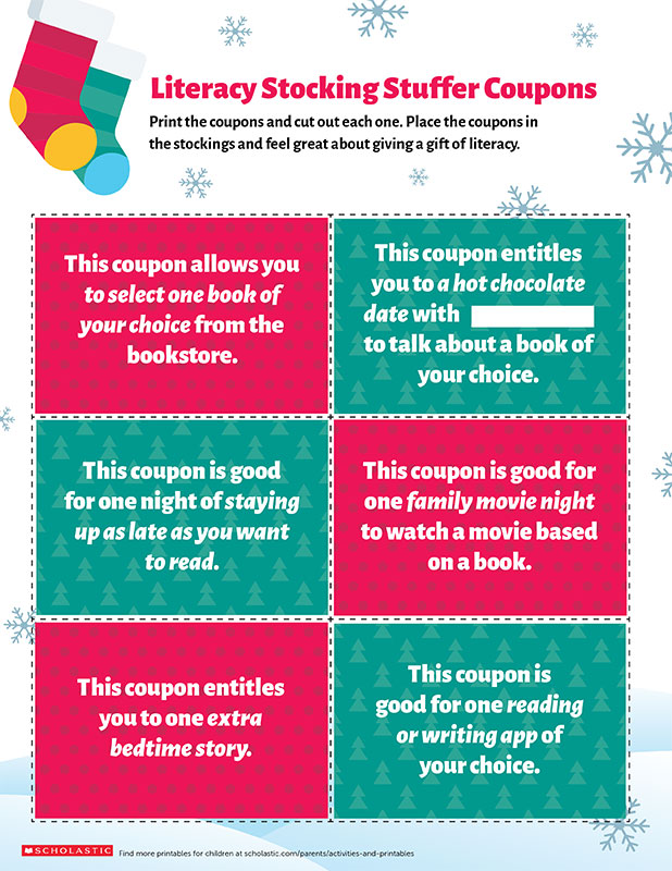 Encourage Literacy With Holiday Coupons Worksheets  Printables