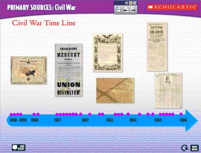 Interactive Civil War Time Line Scholastic