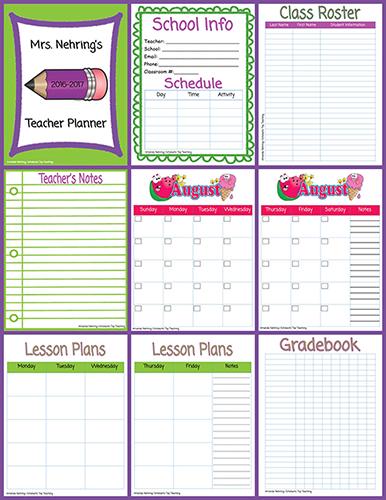 Printable Teacher Planner Scholastic - school calendar creator