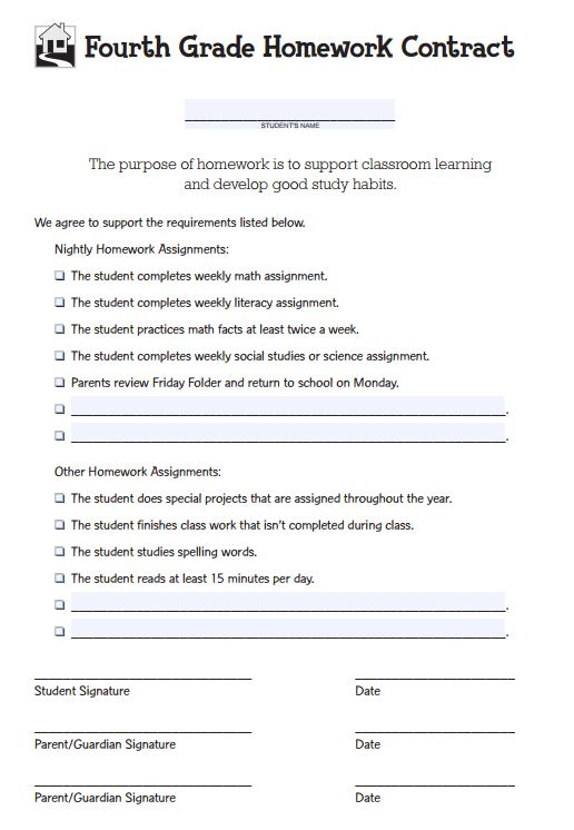 Behavior Contracts and Checklists That Work Scholastic - daily homework assignment sheet