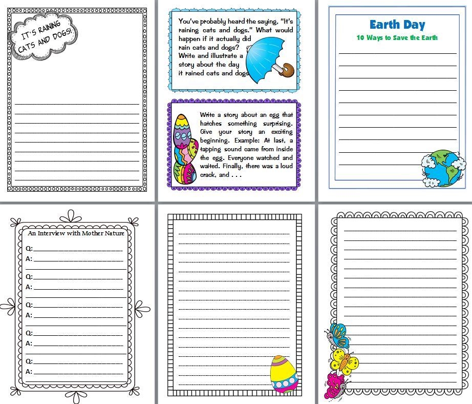 Ready-to-Go Spring Writing Prompts Scholastic - print writing paper