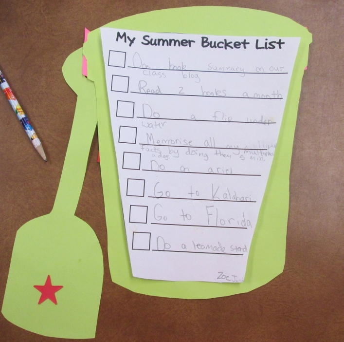 Our Summer Bucket Lists Scholastic