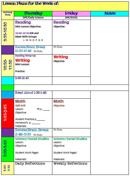Simplify Your Life With an All-in-One Teacher Organizer Scholastic - social studies lesson plan template