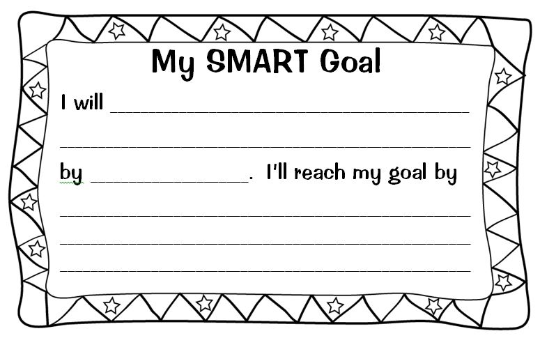 Setting (Almost) SMART Goals With My Students Scholastic - smart goals template