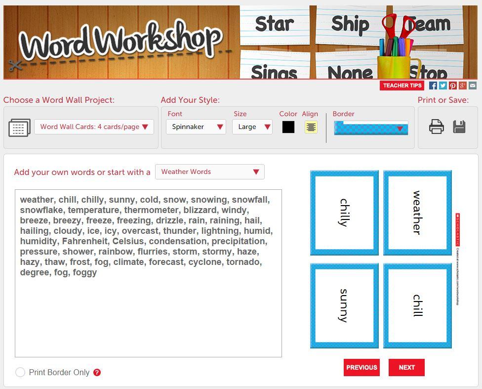 Scholastic\u0027s New, Free, Time-Saving Tool Word Workshop Scholastic