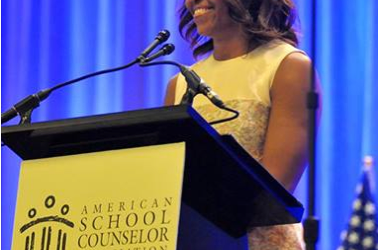 Michelle Obama Speaks To and For School Counselors