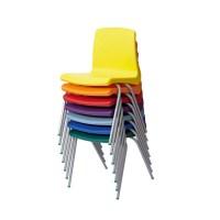 Metalliform NP Blue School Classroom Stacking Chair 310h ...
