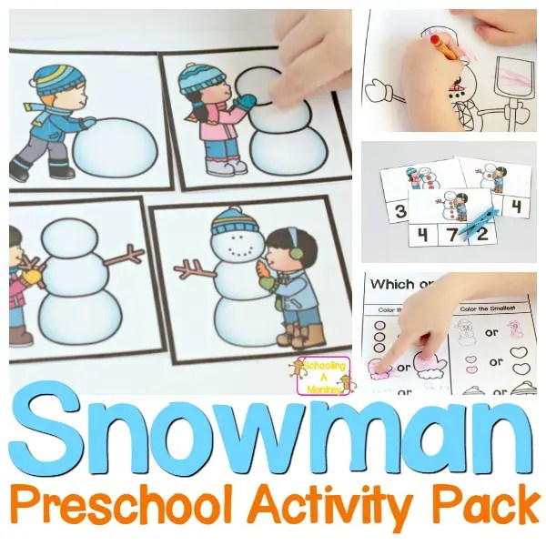 Preschool Snowman Printable Pack