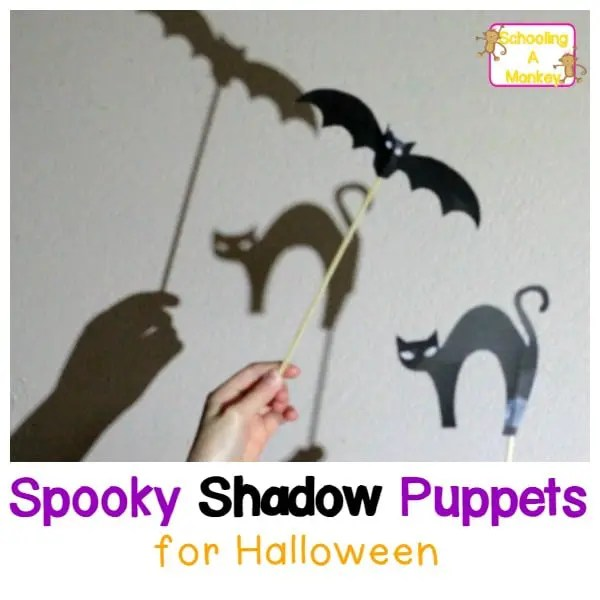 Spooky Printable Shadow Puppet Templates for Halloween - puppet templates