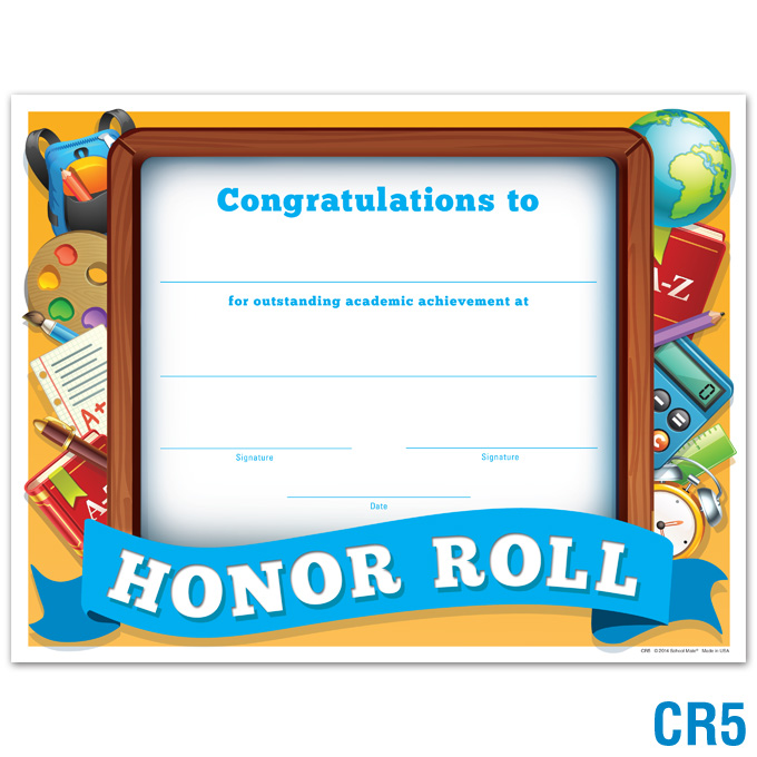 Product Details Honor Roll Certificate Certificates Awards - free printable honor roll certificates
