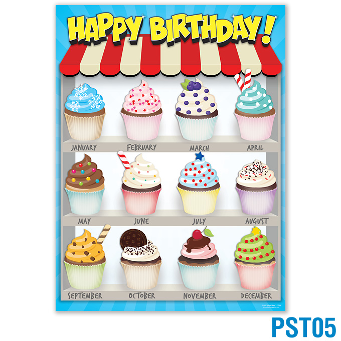 Classroom Product Details Happy Birthday Chart Posters Charts