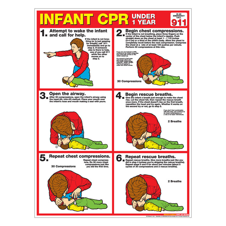 CPR Chart Infant (Laminated)